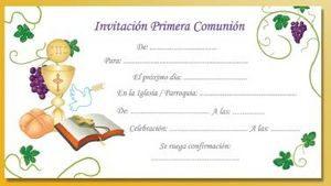 Invitaciones Para La Primera Comunión Niño Y Niña