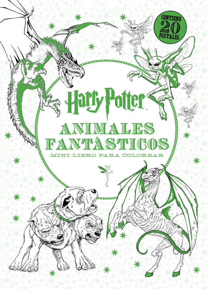 HARRY POTTER. ANIMALES FANTÁSTICOS. MINI LIBRO PARA COLOREAR ...